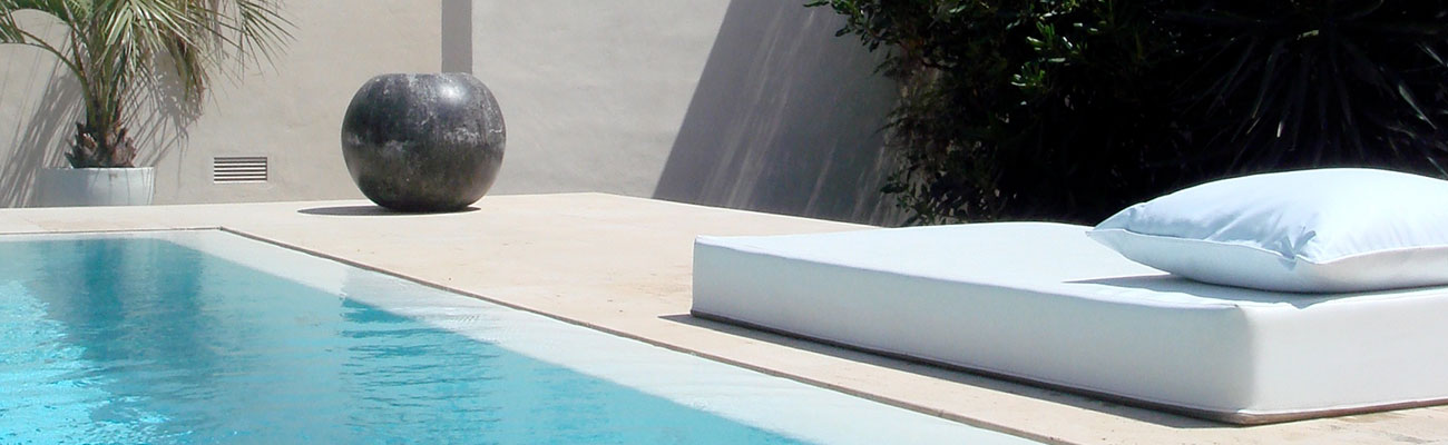 Small Design Hotel Ibiza San Jose Jardines De Palerm Pure lines around the Infinity Pool